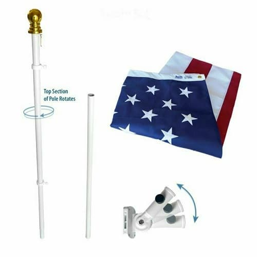 The Estate Set: 3 x 5 Foot Annin Nyl-Glo American Flag with Pole