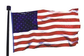 6 x 10' USA Endura-Nylon Flag with VS & RC