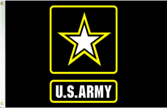 Buy 3x5 Nyl Glo Us Army Logo Flag Flag Store Usa
