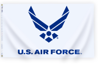 3x5' Nyl-Glo US Air Force Logo Flag