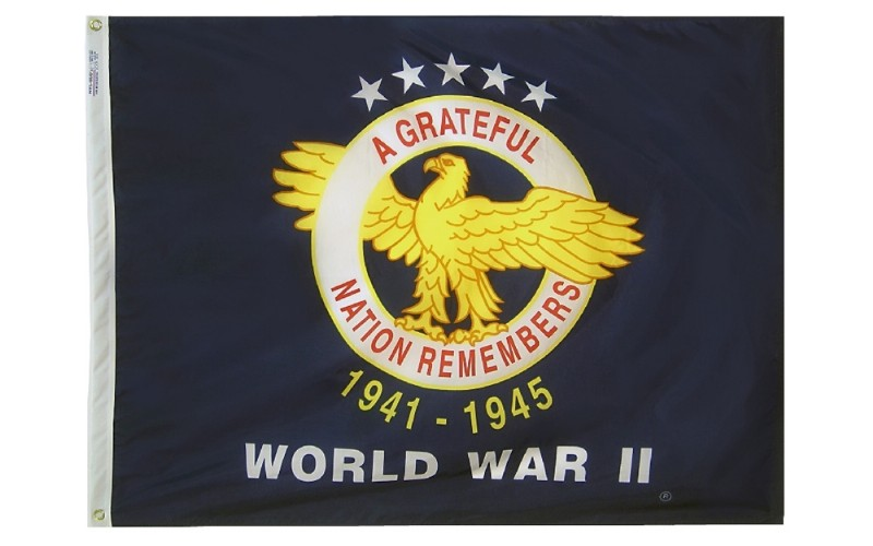 3 x 4' Nyl-Glo WWII Comm Outdoor Flag