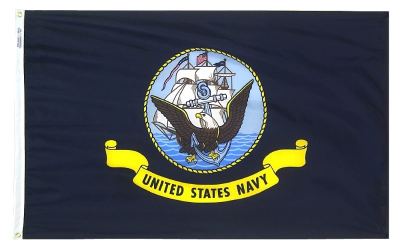 2 x 3' Nyl-Glo US Navy Flag