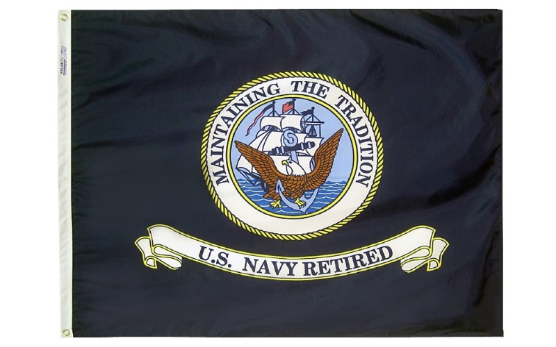 3 x 4' Colonial Nyl-Glo US Navy Indoor Flag