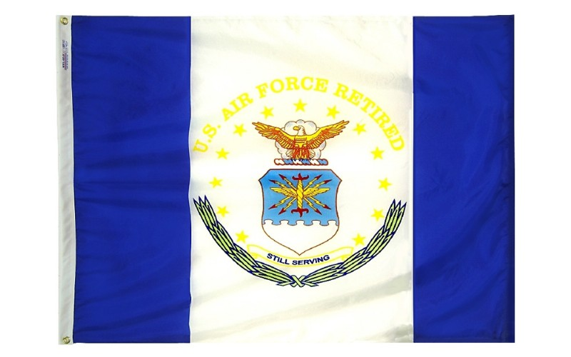3 x 4' Nyl-Glo USAF Retired Flag
