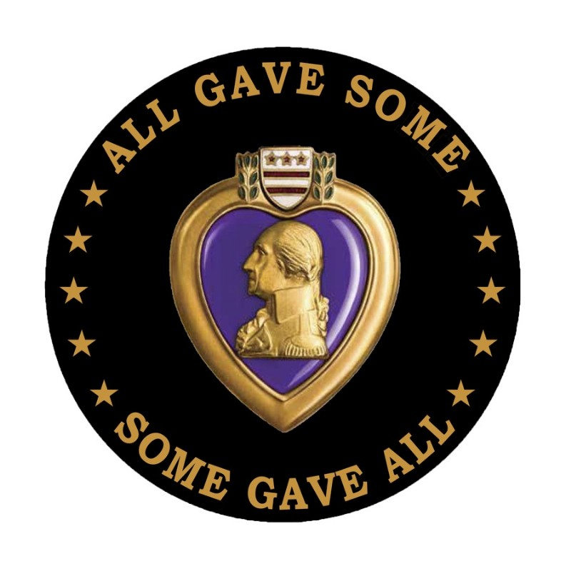 Purple Heart - Memorial Grave Marker