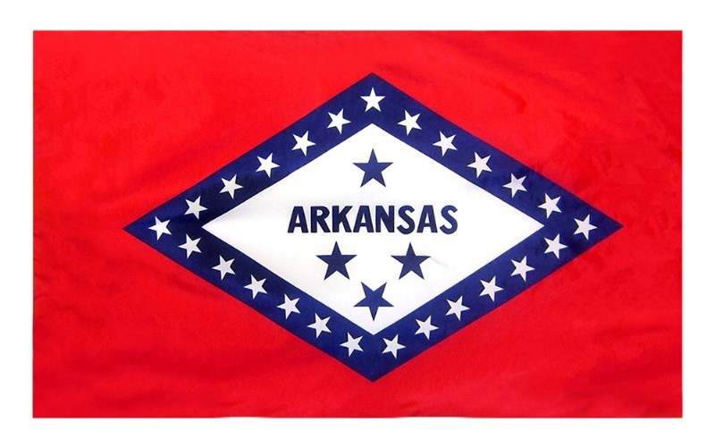3 x 5' Arkansas Flag and Mounting Set