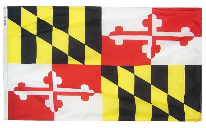 4 x 6 Nyl-Glo Maryland Flag