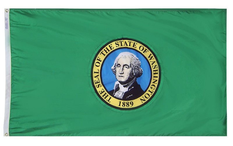 6 x 10' Nyl-Glo Washington Flag