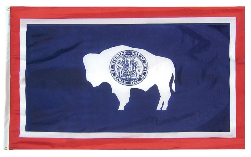 6 x 10' Nyl-Glo Wyoming Flag