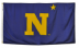 3x5' Nyl-Glo US Naval Academy Logo Flag  ** On Backorder Until 12/2/20 **